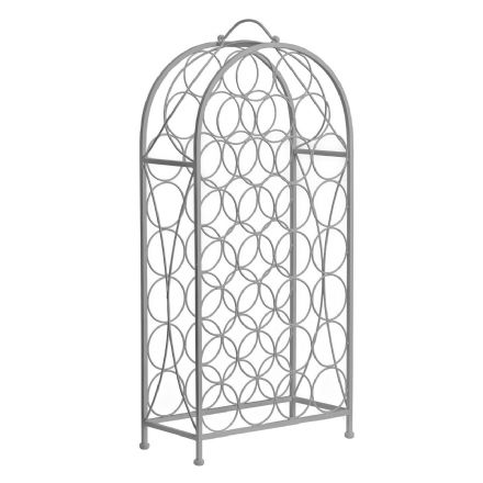 Cafe Cassis Grey Powder Coated 29 Bottle Metal Wine Rack